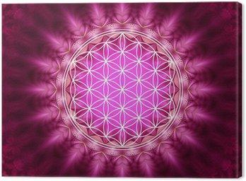 Canvas Print Blume des Lebens - Energetisierung, Heilige Geometrie