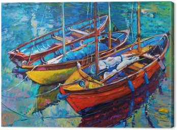 Canvas Print Boats