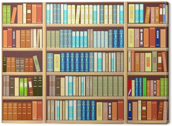 Canvas Print Bookcase full of books