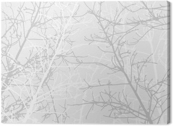 Canvas Print Branches texture pattern. Soft background.