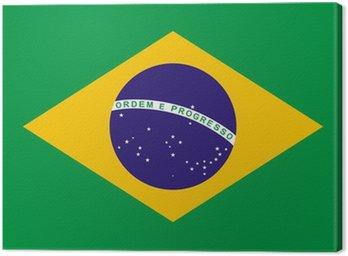 Canvas Print Brazil Flag