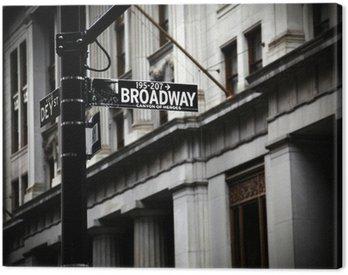 Canvas Print Broadway sign