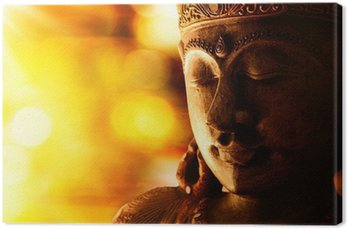bronze buddha statue Canvas Print