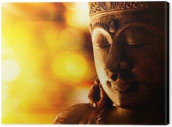 Canvas Print bronze buddha statue