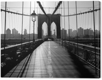 Canvas Print Brooklyn Bridge, Manhattan, New York City, USA