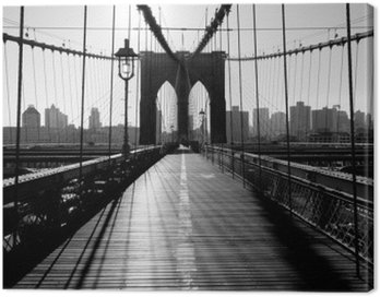 Brooklyn Bridge, Manhattan, New York City, USA Canvas Print