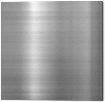 Brushed aluminium metallic plate Canvas Print
