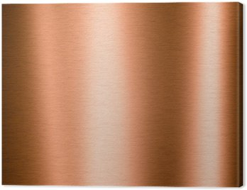 Brushed copper metallic sheet