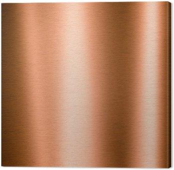 Canvas Print Brushed copper metallic sheet