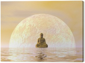 Canvas Print Buddha meditation - 3D render
