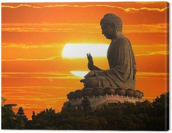 Canvas Print Buddha statue at sunset