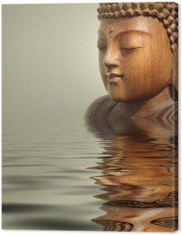 Canvas Print buddha wasser hintergrund