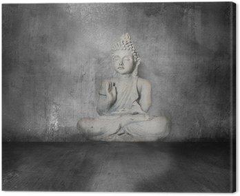 buddha with grunge background