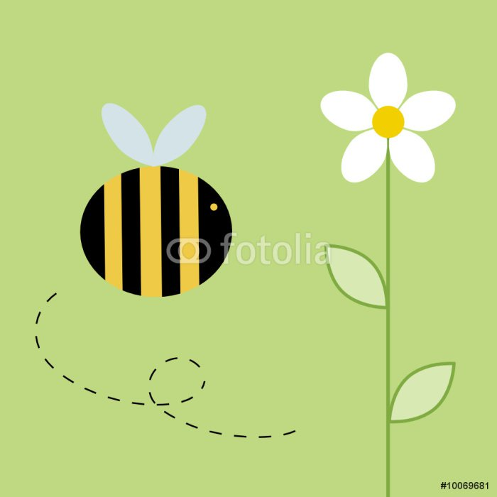 Canvas Print Busy bee - Destinations