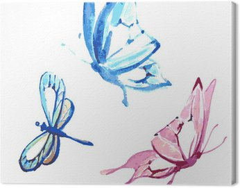 Canvas Print butterfly,watercolor design