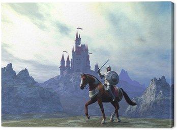 Canvas Print Caballero y castillo