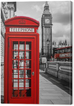 Canvas Print Cabine Téléphone Londres