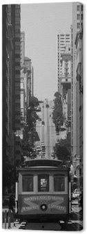 Canvas Print cable car at San Francisco