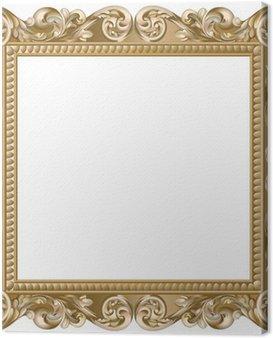 Canvas Print Cadre baroque carré doré