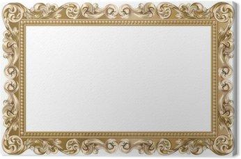 Canvas Print Cadre baroque rectangulaire doré