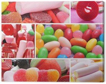 Canvas Print candies collage