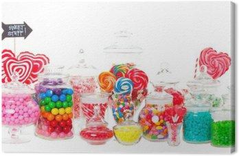 Canvas Print Candy Buffet