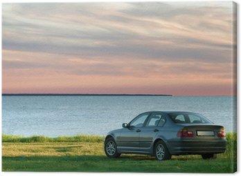 car and sea landscape