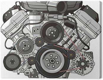 Canvas Print car engine front