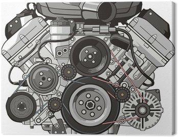 car engine front