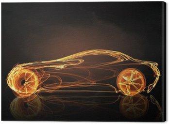 Canvas Print Car light symbol