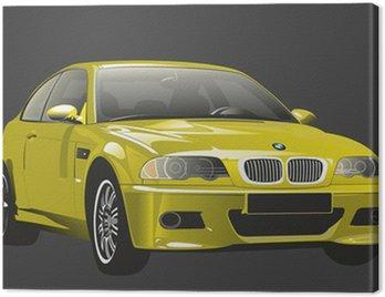 Canvas Print Car looking like BMW M3