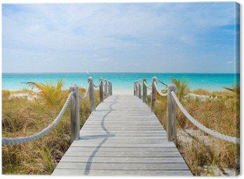 Canvas Print Caribbean beach