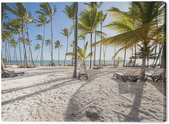 Canvas Print Caribbean Beach