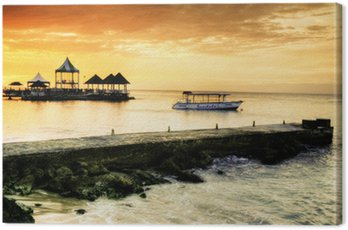 Canvas Print Caribbean Sunset