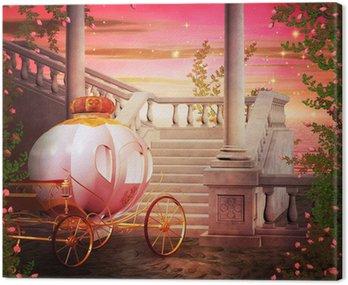 Canvas Print Carriage Castle Fantasy Backdrop