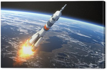 "Canvas Print Carrier rocket ""Soyuz-FG"" Launching"