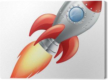 Canvas Print Cartoon rocket space ship