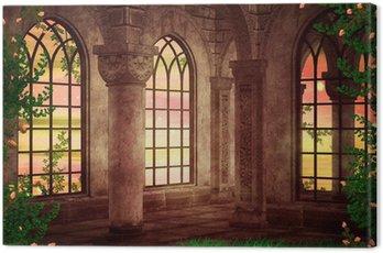 Castle Fantasy Backdrop Canvas Print