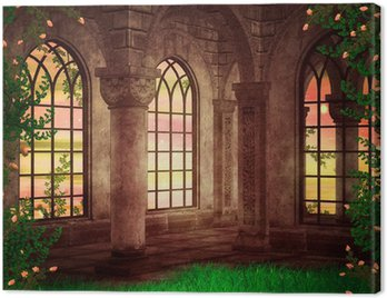 Canvas Print Castle Fantasy Backdrop