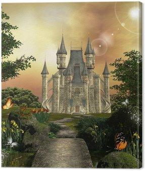 Canvas Print Castle in an enchanted garden