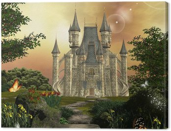 Canvas Print Castle in an enchanted garden