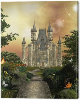 Castle in an enchanted garden