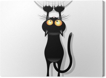 Cat Cartoon Scratching Curtain-Gatto Buffo Strappa Tenda