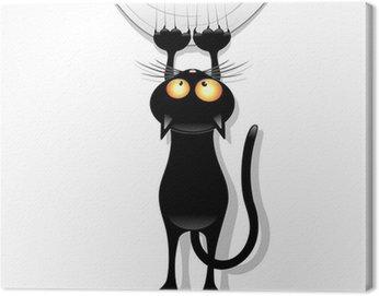 Cat Cartoon Scratching Curtain-Gatto Buffo Strappa Tenda