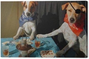 Canvas Print celebrity critter poker - color version