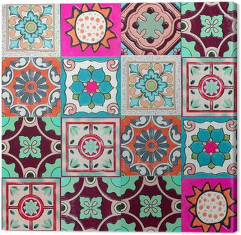 Canvas Print ceramic tiles patterns from Portugal.