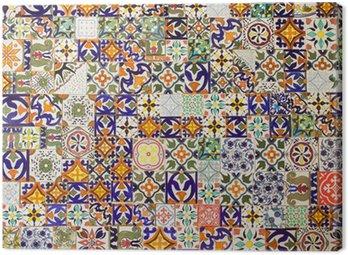 Canvas Print ceramic tiles patterns