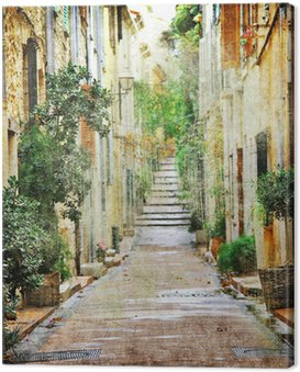 charming streets of mediterranian, artistic picture Canvas Print