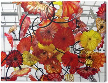 chihuly exhibit in new york botanical garden Canvas Print