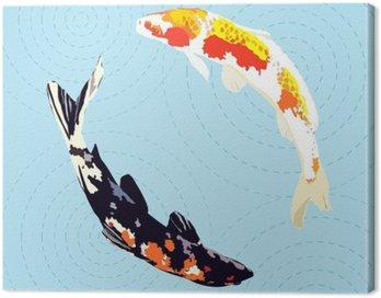 chinese carp, japanese koi fish, vector illustration